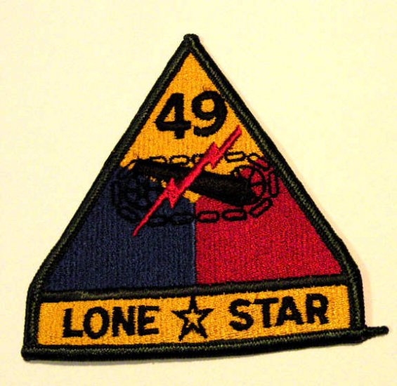 49th Armored Division Patch mint condition
