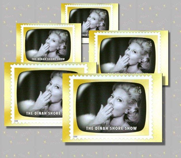 The Dinah Shore Show, 5 TV Memories Postcards, mint