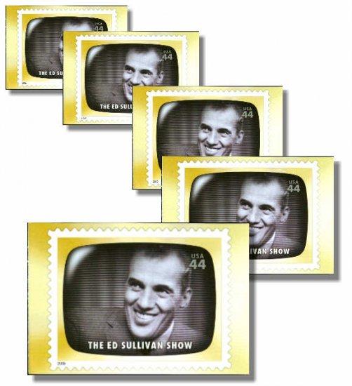 The Ed Sullivan Show, 5 TV Memories Postcards, mint