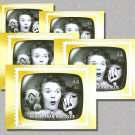 Kukla, Fran and Ollie, 5 TV Memories Postcards, mint