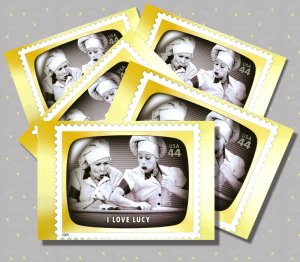 I Love Lucy, 5 TV Memories Postcards, mint
