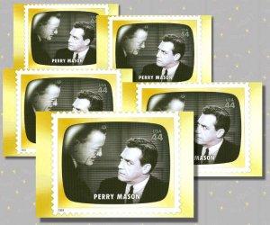 Perry Mason, 5 TV Memories Postcards, mint