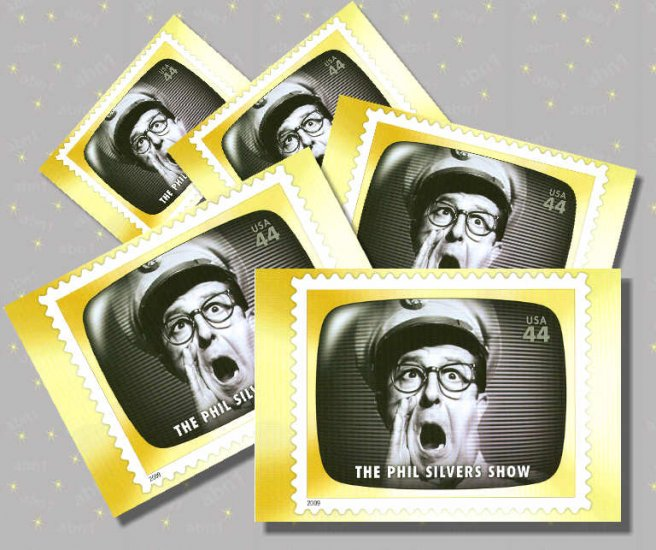 The Phil Silvers Show, 5 TV Memories Postcards, mint