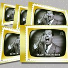 Texaco Star Theater, 5 TV Memories Postcards, mint