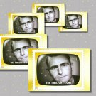 The Twilight Zone, Rod Serling, 5 TV Memories Postcards, mint