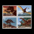 Prehistoric Animals, setenant block of 4, mnh