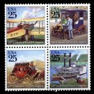 Traditional Mail Delivery, setenant block of 4, mnh