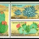 Desert Plants plate block of 4, mnh