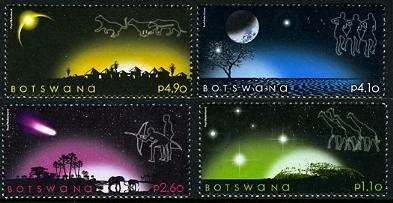 Botswana Night Skies set of 4 stamps, mnh