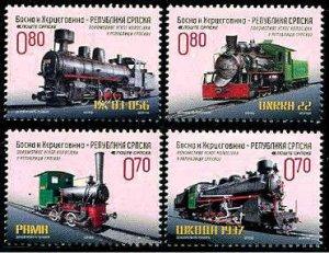 Locomotives Bosnia & Herzegovina set of 4, mnh
