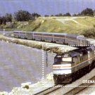 Grenada Scott #3548 Amtrak Passenger Train souvenir sheet