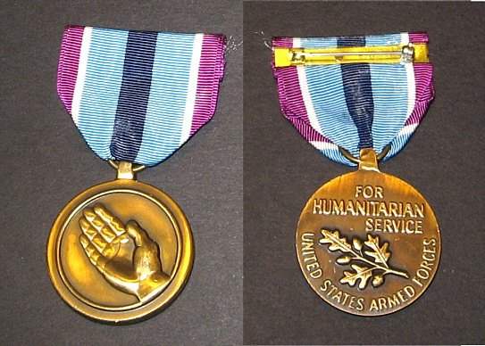 Humanitarian Service Medal  mint in box
