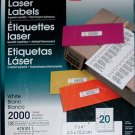 Laser Address Labels, WilsonJones #75101 1 x 4 inch box of 2000 sealed.