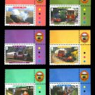 Railways & Trams, Isle of Man 2010 set of 6 stamps, mnh