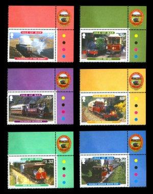 Railways & Trams, Isle of Man 2010 set of 6 stamps, mnh