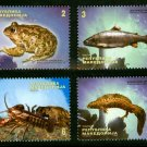 Fish Frog Crayfish Newt, Macedonia 2010 set of 4 Marine Life, mnh
