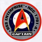 3 Star Trek Captain's Decals 3-1/2 inch diameter