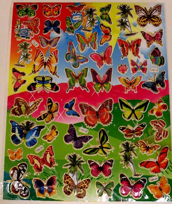 Stickers, 30 sheets 7 in. x 10 in. sheet, all different