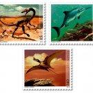Switzerland Dinosaurs 2010 Set of 3 Stamps MNH