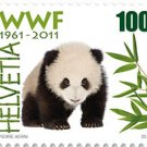 Switzerland Panda WWF 50th Anniversary, 2011 MNH