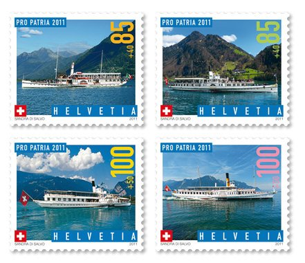 Switzerland Ships Pro Patria 2011 Semi-postal set of 4 mnh