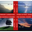Switzerland National Anthem 50th Anniversary mini sheet of 4 stamps, mnh