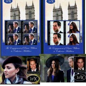Royal Wedding William & Kate Antigua 2 SS + 2 MS