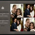 Royal Wedding William & Kate Great Britain souvenir sheet