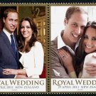 William & Kate Royal Wedding New Zealand setenant pair + souvenir sheet