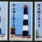 Lighthouses Namibia 2010 set of 3 stamps, mnh