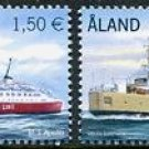 Passenger Ferries Aland 2011 set of two stamps, mnh