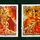 French Polynesia Women 2010 set of 2 stamps, mnh