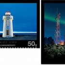 Iceland Lighthouses 2011 set of 2 stamps, self-adhesive