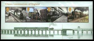Great Britain Classic Locomotives Souvenir Sheet