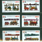 Trains set of 6 stamps + souvenir sheet mnh Japan Philatelic Expo 2011
