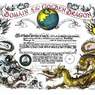 Domain of the Golden Dragon Certificate unused mint, from the US Naval Institute