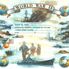 World War II Certificate unused mint, from the US Naval Institute