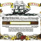 Plank Owner Certificate unused mint, from the US Naval Institute