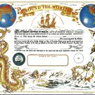 Round the World Certificate (Magellan) Certificate unused mint, from the US Naval Institute