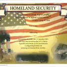 Homeland Security Certificate unused mint, from the US Naval Institute