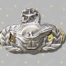 USAF Security Police Master Qualification Badge, mint