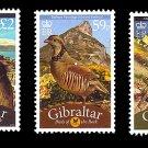Birds set of 3 stamps mnh 2010 Gibraltar at face value