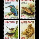 Nature Reserves set of 4 stamps mnh 1999 Gibraltar Birds Perch Macaque