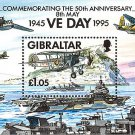 50th anniversary VE Day WWII mnh souvenir sheet 1995 Gibraltar
