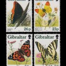 Butterflies in Gibraltar Set of 4 mnh stamps 1997