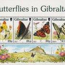 Butterflies in Gibraltar mnh Souvenir Sheet 1997