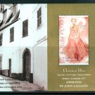 Dior Fashions by John Galliano Souvenir Sheet mnh 1997 Gibraltar