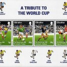 Tribute to the World Cup 1998 Souvenir Sheet Gibraltar Soccer Football