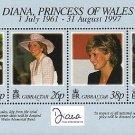 Diana, Princess of Wales Memorial souvenir sheet mnh 1998 Gibraltar