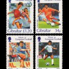 Tribute to European Football (Soccer) 1996 set of 4 mnh stamps Gibraltar Soccer Football